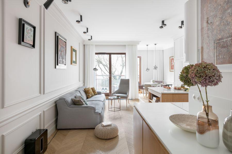 Jasne i eleganckie mieszkanie na warszawskim Powiślu